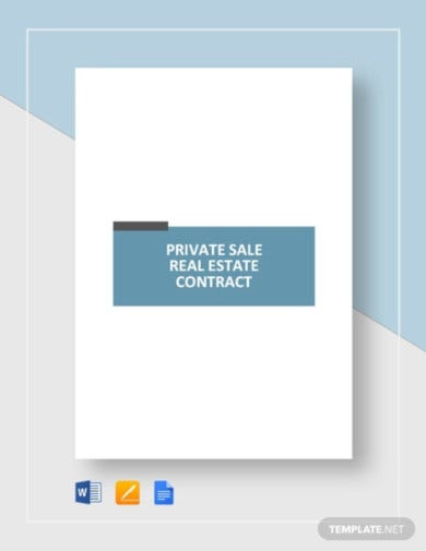 private sale real estate contract template1