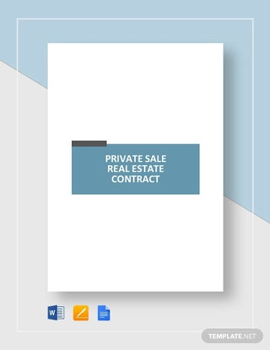 private sale real estate contract template2