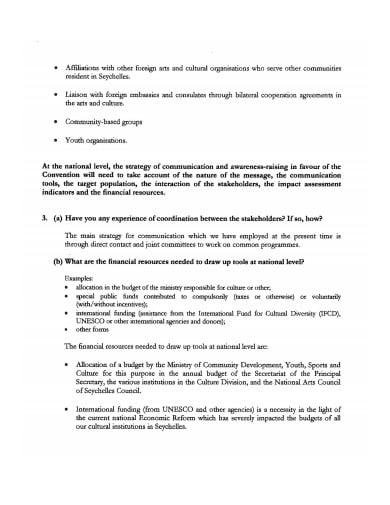 profession promotional questionnaire template
