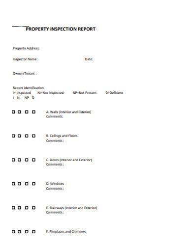 16+ Property Inspection Report Templates in Google Docs