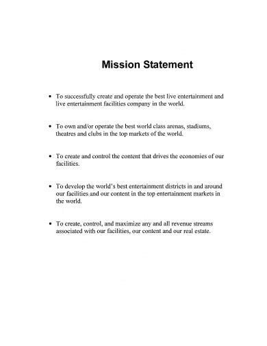 professional real estate mission statement template