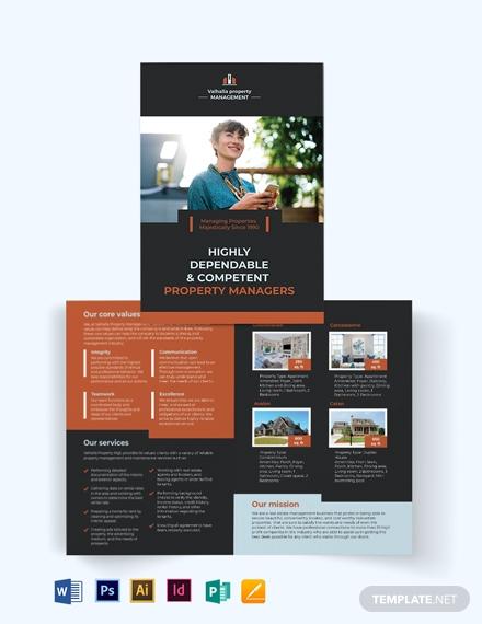 property management maintenance bi fold brochure