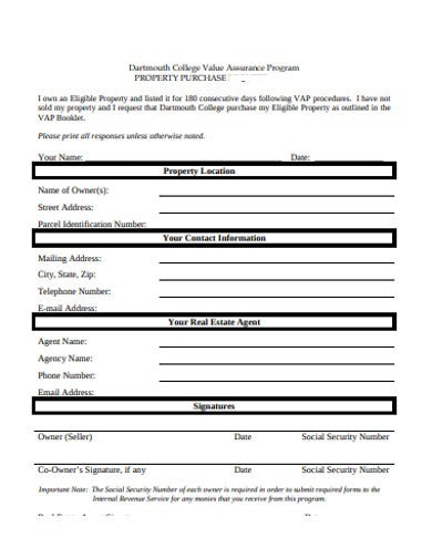 property purchase order form