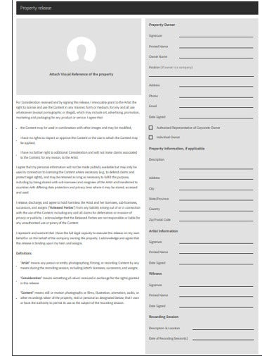 property release form example