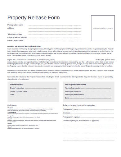 property release form template