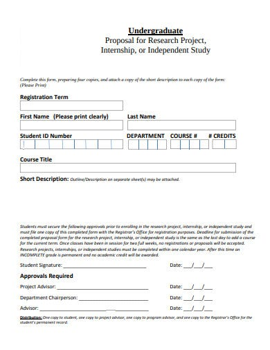 proposal for research internship project