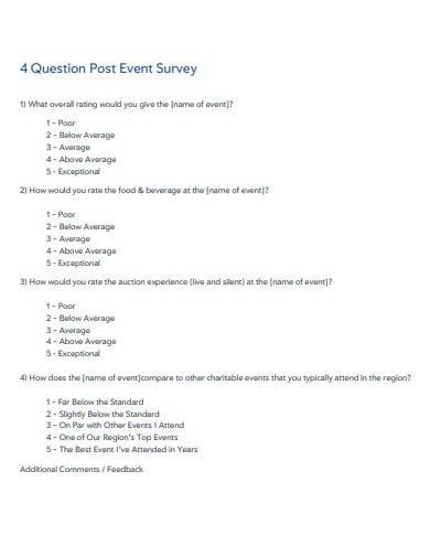 25 Event Feedback Survey Templates In Pdf Doc Free Premium Templates