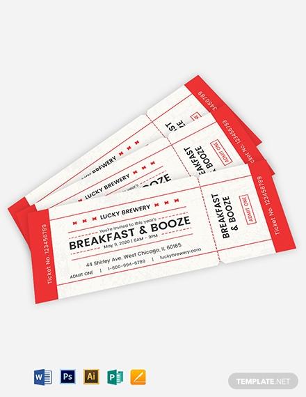 raffle admission ticket template 1