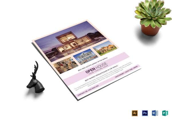 real estate agency open house flyer template