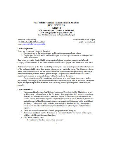 10+ Real Estate Analysis Templates - PDF   Free & Premium Templates