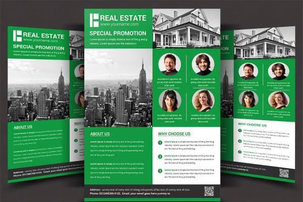 real estate broker flyer template