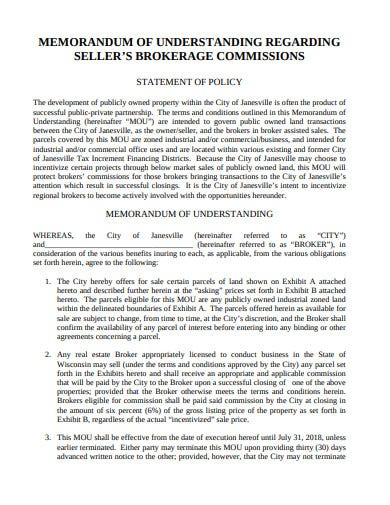 real estate commission statement in pdf