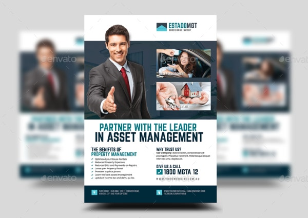 real estate development and management flyer