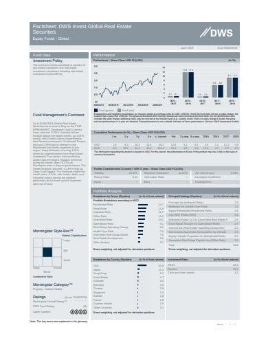 real estate fact sheet template
