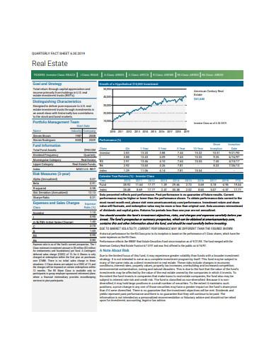 real estate fact sheet in pdf
