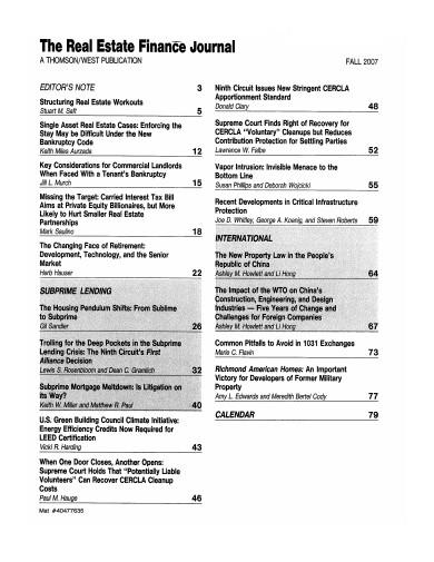 real estate finance journal template