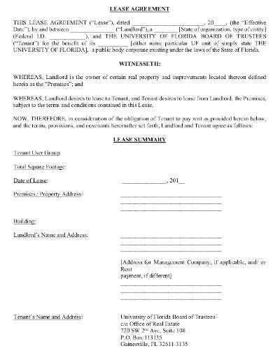 real estate lease agreement sample1