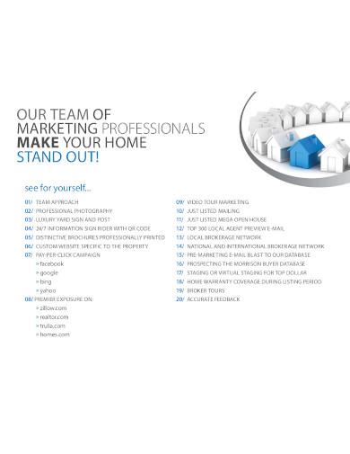 real estate marketing plan listing
