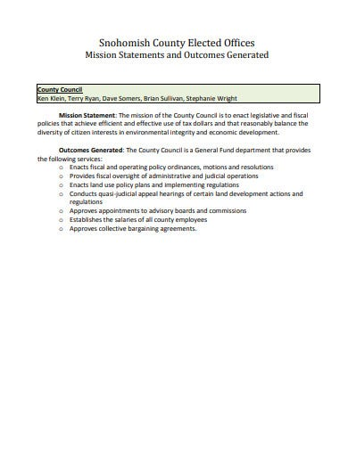 real estate mission statement template in pdf