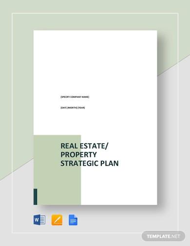 real estate property strategic plan template