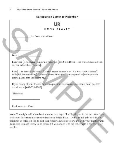 real estate prospecting letter example