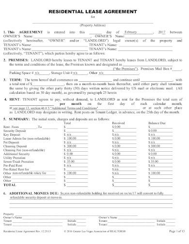 10 Real Estate Lease Agreement Templates In Pdf Free