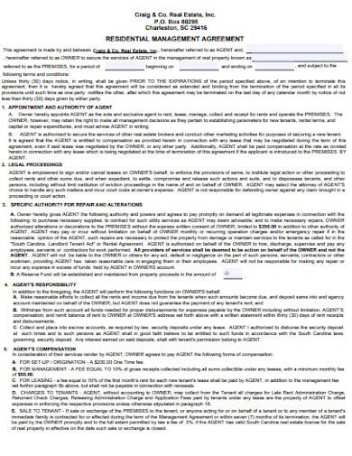 real estate residential management agreement1