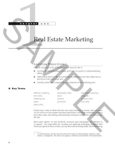 real estate sales strategy template