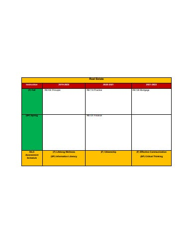 real estate schedule format