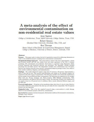 real estate values journal template