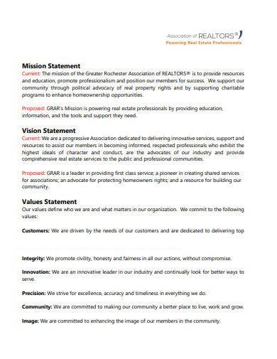 realtors real estate mission statement template1