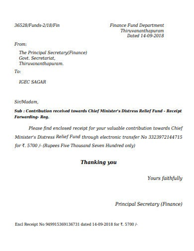 relief fund donation receipt letter in pdf