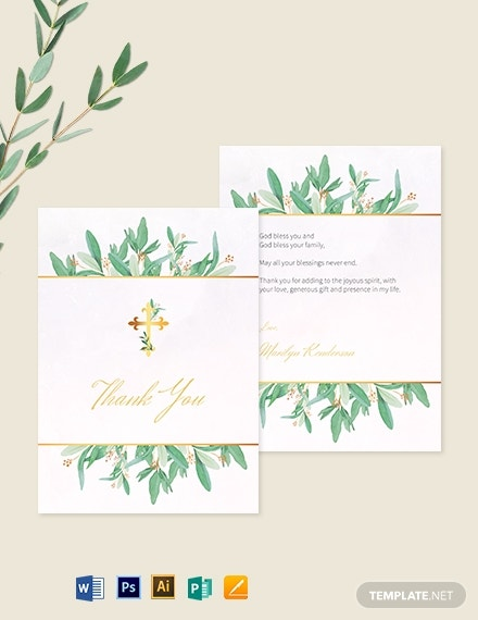 religious thank you card template 1