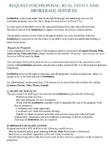 request for proposal real estate in pdf