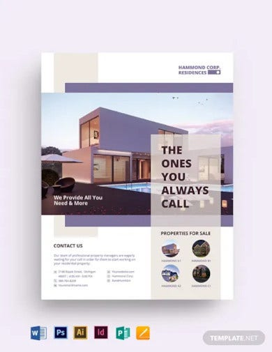 residential property management flyer template