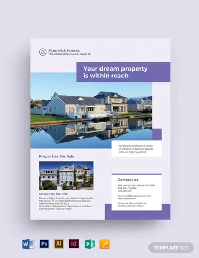 residential real estate agent agency flyer template