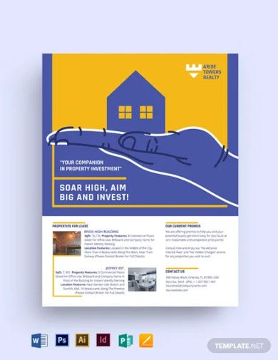 residential real estate investment flyer template