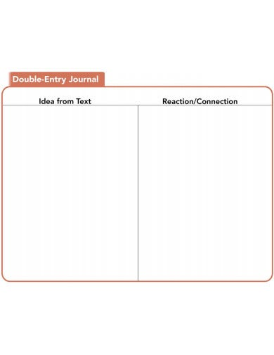 response double entry journal