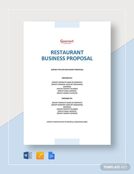 restaurant business proposal 1