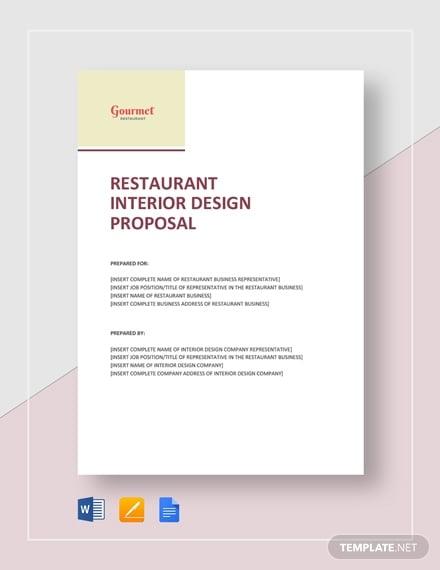 restaurant interior design proposal 2
