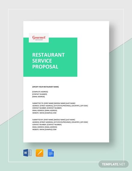 restaurant service proposal 2