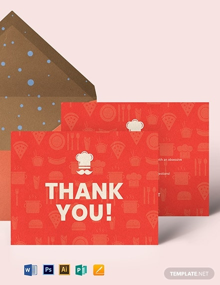 restaurant thank you card template 1