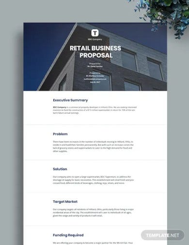 retail business proposal template1