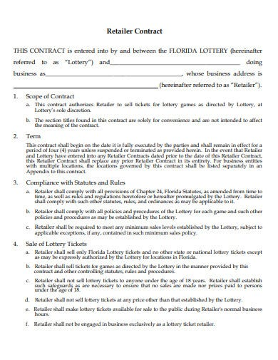 retail contract example