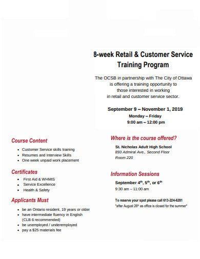 retail customer service training program