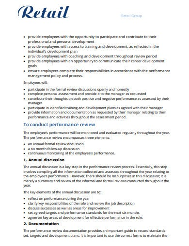 Retail-Employee-Performance-Award-Review-Template Examples Of Performance Review Forms on strengths weaknesses, self evaluation for, growth opportunities, customer service, negative employee,