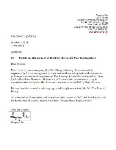 retail letter notice