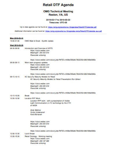 10  retail meeting agenda templates in pdf