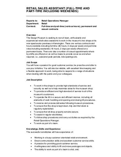 11+ Retail Assistant Cover Letter Templates in PDF | DOC ...