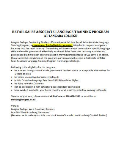 retail sales training program